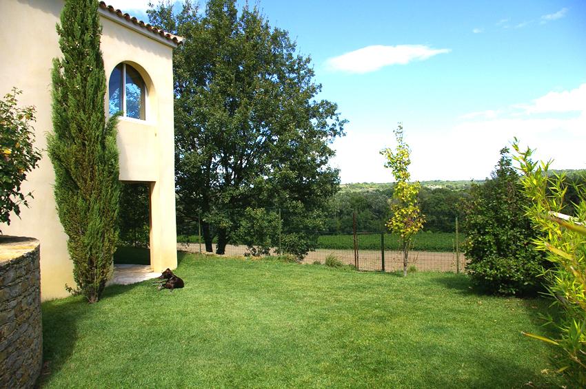 Maison individuelle brignon - jardin